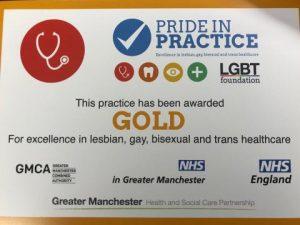Pride In Practice Certificate